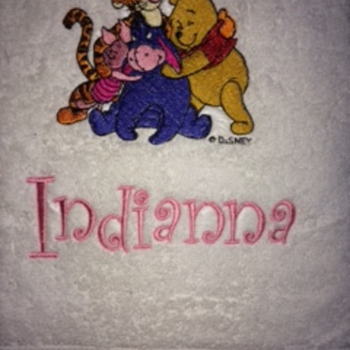 POOH Bear Personalized Embroidered 3 Piece Bath Towel Gift Set